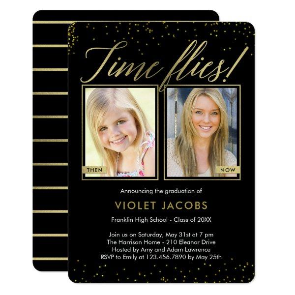 Time Flies EDITABLE COLOR Graduation