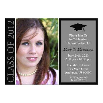Traditional Class Of 2012 Graduation (Black) Card