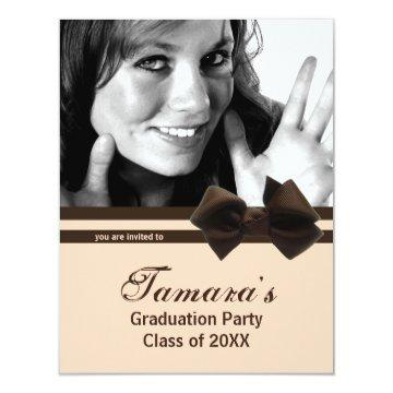 Trendy Brown Bow Graduation Party Photo