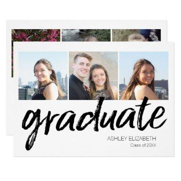 Trendy Graduation Party Announcement with 6 Photos