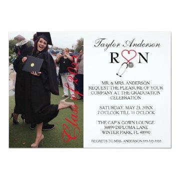 Trendy Medical RN School Graduation Announcement