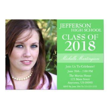 Two-Tone Graduation Invitations (Lime Green)