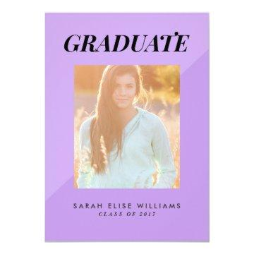 Two Tone Graduation  | Purple
