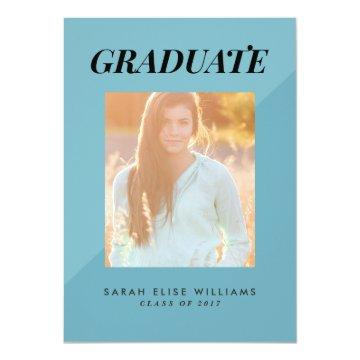 Two Tone Graduation  | Teal