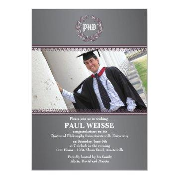 Ultimate Achievement Photo Graduation Invitation