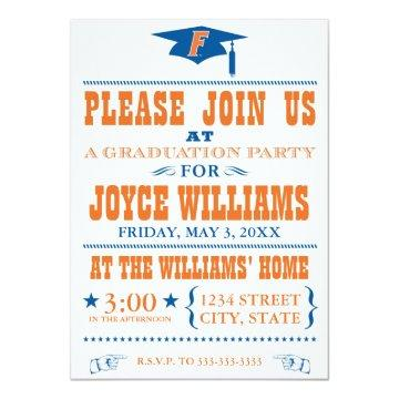 University of Florida Graduation Invitation