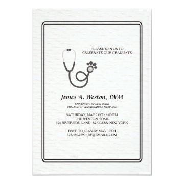 Vet Stethoscope Invitation