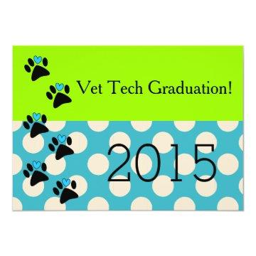 Vet Tech Graduation  Lime and Blue 8