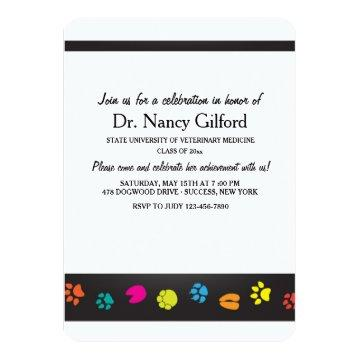 Veterinarian Graduation Invitation