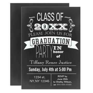 Vintage Chalkboard Graduation party