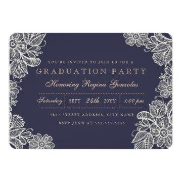 Vintage Lace Graduation Card