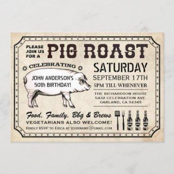 Vintage Pig Roast  (Ticket Style)