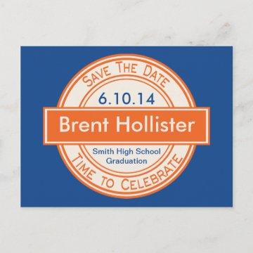 Vintage Style Sign Save The Date Graduation Announcement Postcard