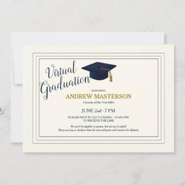 Virtual Graduation Sophisticated Graduate Invite