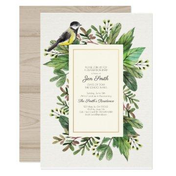 Watercolor. Woodsy. Graduation Party Invitations. Invitations