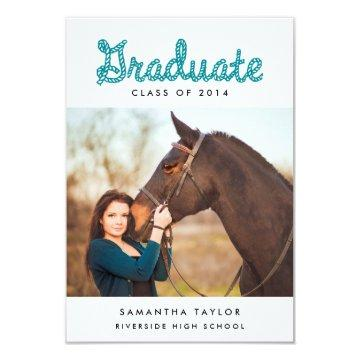 Western Themed Graduation Party Mini Invitation