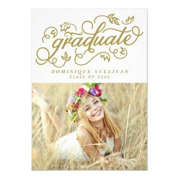 Whimsical Script | Gold Photo Graduation