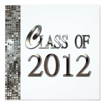White And Silver Sequins Graduation