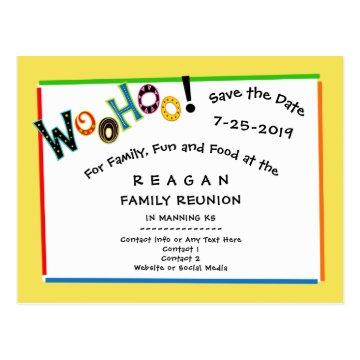 Save the date graduation cards graduation invitations woohoo sounds like fun reunion party save the date postcard filmwisefo Gallery