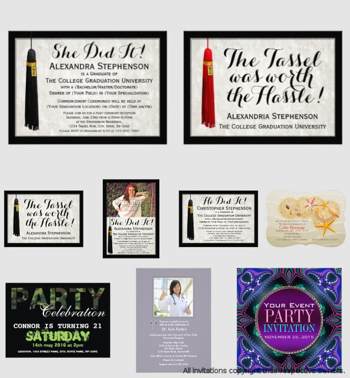 Adult Graduation Invitations