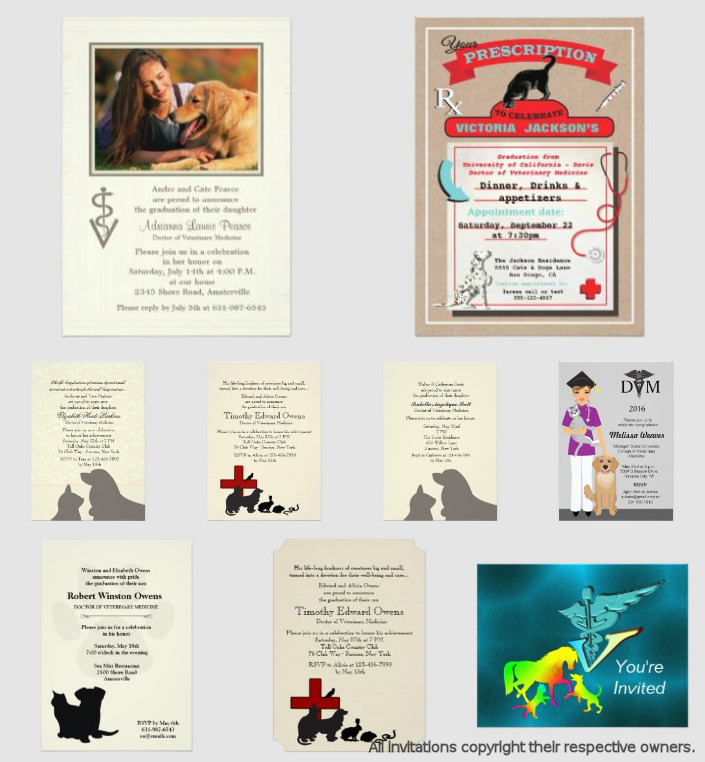 Veterinarian Graduation Invitations